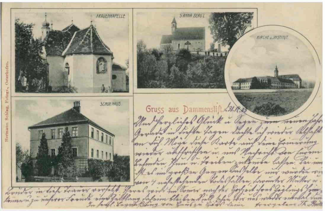 Postkarte aus dem Jahr ca. 1903