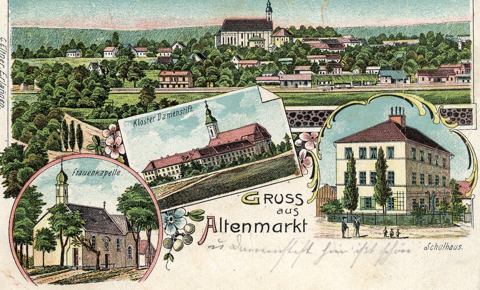 Postkarte aus dem Jahr ca. 1905