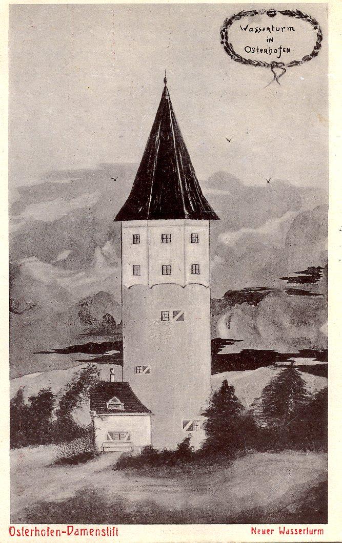Postkarte Wasserturm 1910