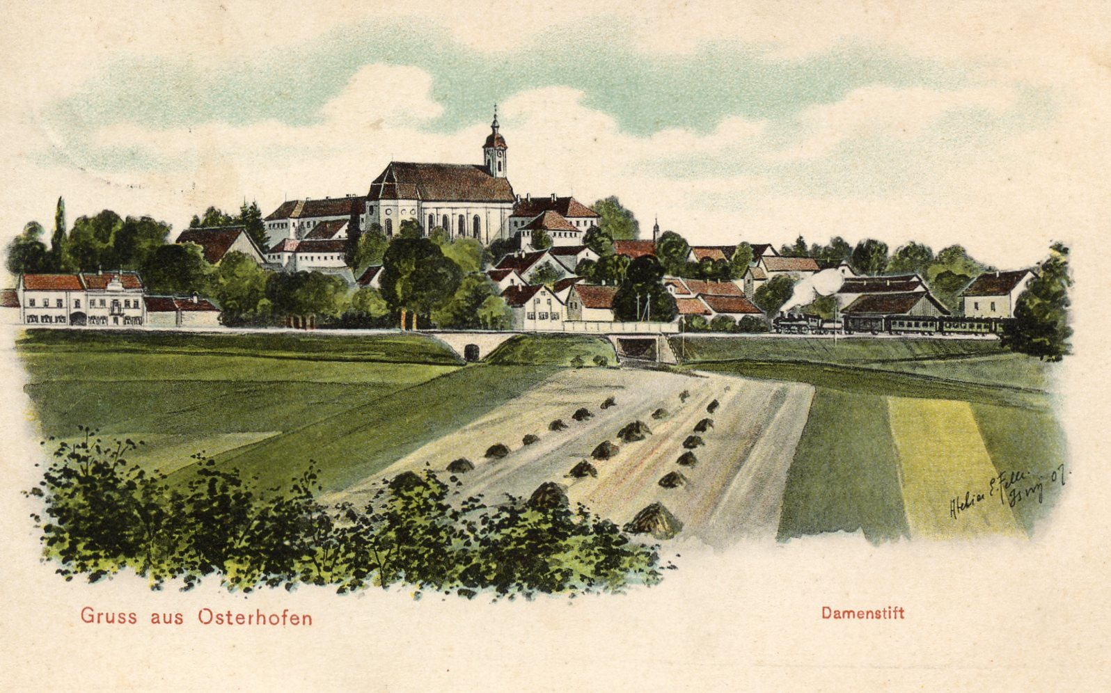 Postkarte aus dem Jahr ca. 1907