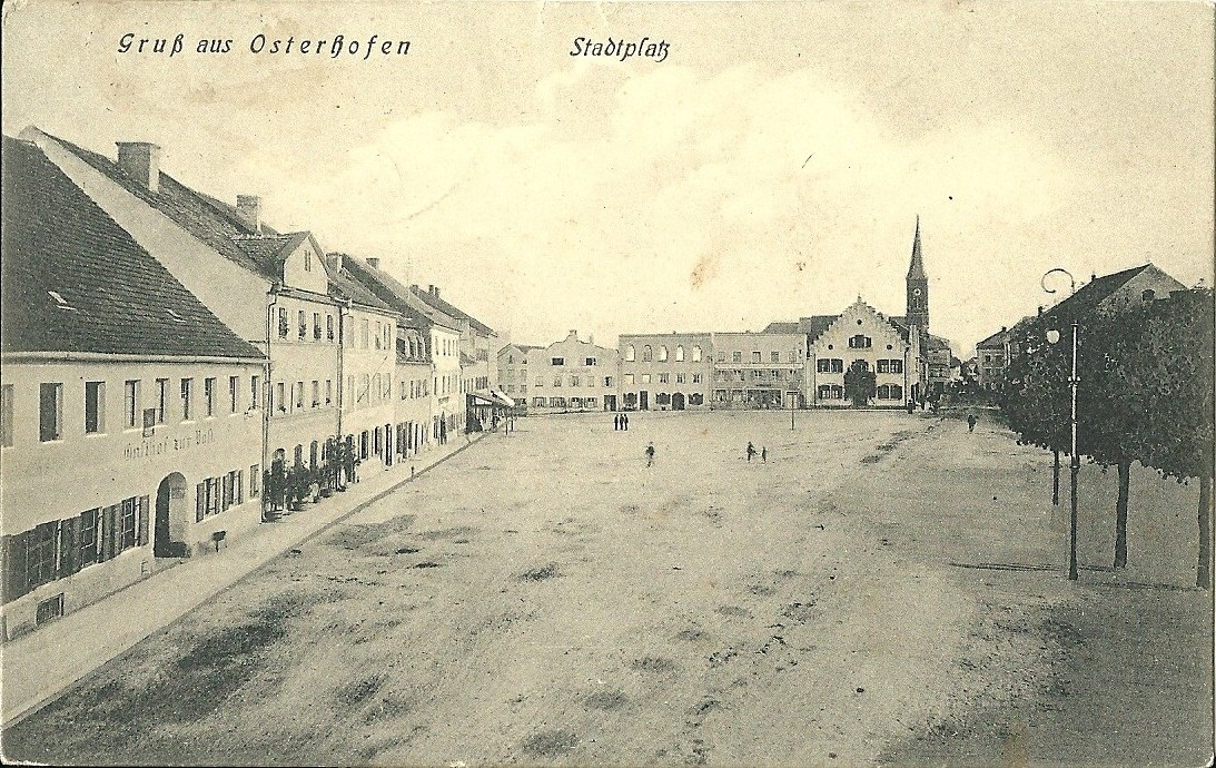 Postkarte vom Stadtplatz ca. 1929