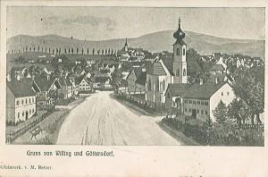 Postkarte Göttersdorf und Willing 1912